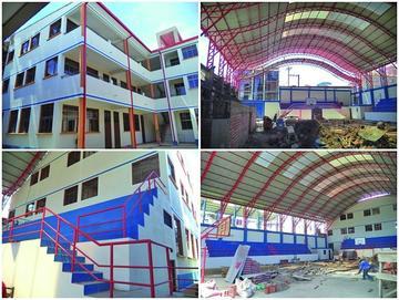 Ultiman obras de ampliación  para escuelas en el municipio