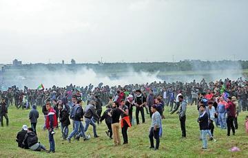 Marcha en la frontera de Gaza provoca 16 fallecidos y heridos