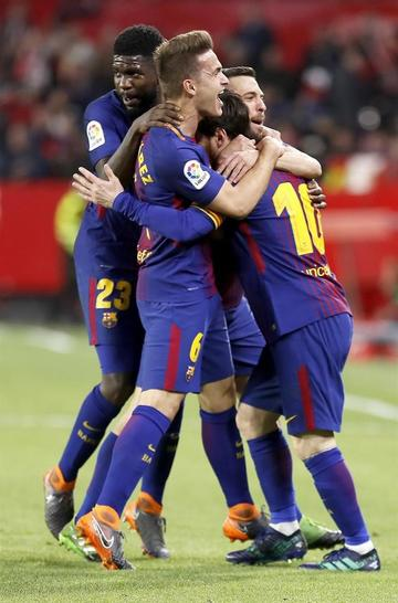 Barcelona consigue un empate ante Sevilla