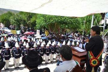 En Chuquisaca, el presidente Evo rinde homenaje al prócer Vizente Camargo