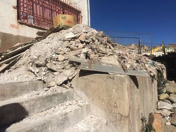 Piden retirar los escombros de escuela Ascencio Padilla