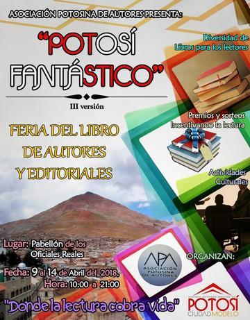 """Mañana abre la tercera Feria del Libro """"Potosí Fantástico"""""""