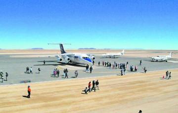 Pilotos califican como mejor pista al aeropuerto de Uyuni