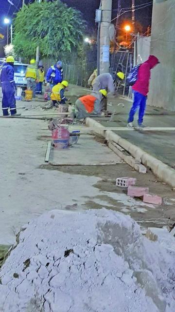 Los trabajos continúan en la avenida Tinkuy