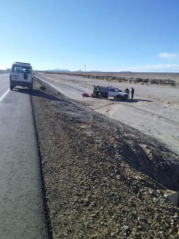 Falla mecánica ocasiona un accidente vial