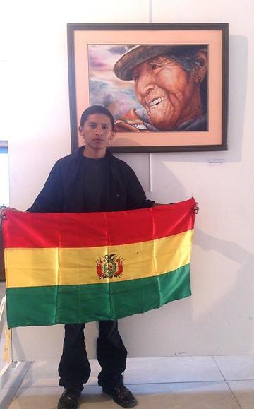 Artista potosino participa en exposición de arte de Puno