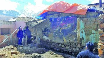Inician rescate de mural de Alandia Pantoja en Milluni
