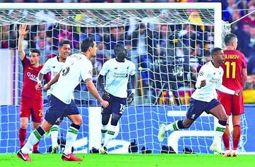 Liverpool elimina a Roma y se cita con Madrid en la final