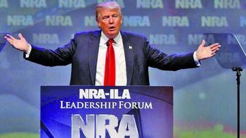 Trump apoya a una asociación de armas en Estados Unidos