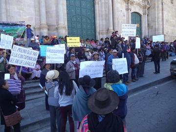 Comunarios se oponen a labores mineras en la cuenca de La Palca