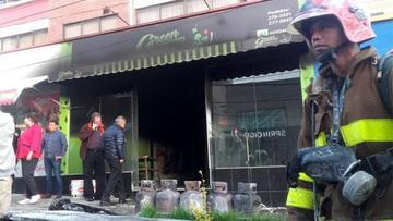 Restaurante se incendia en la zona sur de La Paz