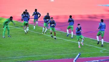 Jugadores de la Verde esperan con optimismo el partido amistoso