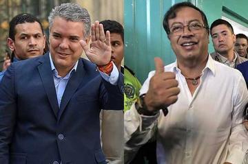 Iván Duque y Gustavo Petro van a segunda vuelta en Colombia