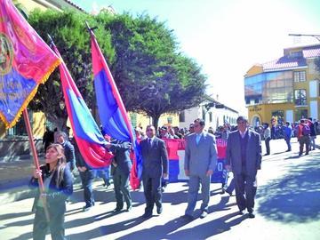 La UATF se declara en emergencia por presupuesto tras marcha de protesta