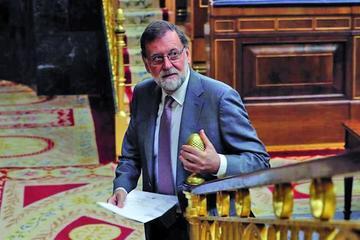 El Congreso de España debate la censura el presidente Rajoy