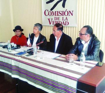 La Comisión de la Verdad recoge testimonio en Potosí