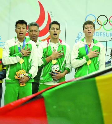 Bolivia logra su tercer oro