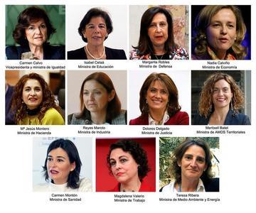 El nuevo gabinete de España tiene una mayoría de mujeres