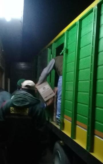 Confiscan más de 10.3  toneladas de alimentos de los contrabandistas
