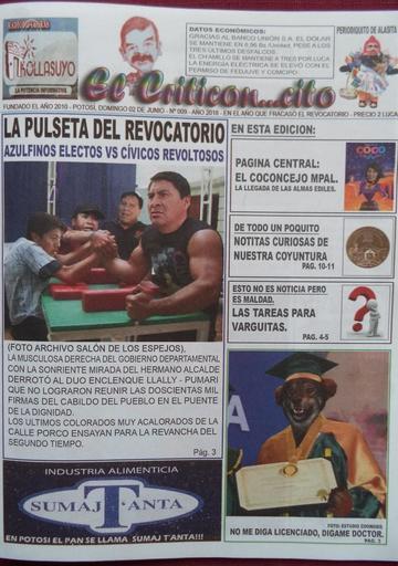 Se publican las revistitas de Alasita El Criticon..cito y A calzón quitado