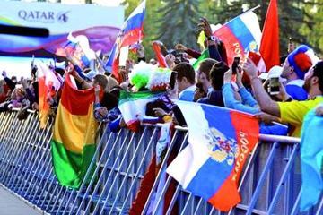 El sello boliviano se impone en la inauguración de la Copa del Mundo 2018
