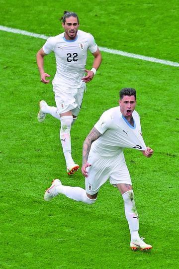 Uruguay le gana sobre el final a Egipto