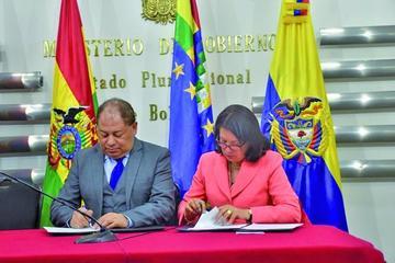Gobiernos boliviano y colombiano intercambiarán información migratoria