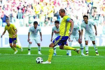 Suecia gana a Corea del Sur gracias a un penal señalado por al VAR