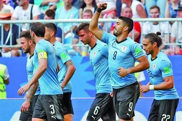 Uruguay golea a la selección rusa