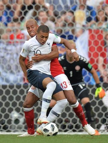 """Francia empata ante Dinamarca en el """"Luzhniki"""""""
