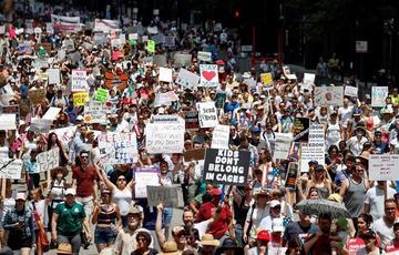 Protestan en EE.UU. contra la política migratoria de Trump