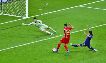 Bélgica vence en el último minuto a Japón y va a cuartos
