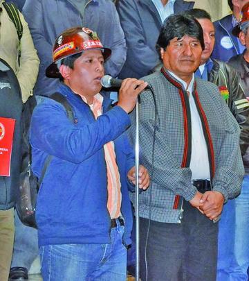 Central Obrera Boliviana reafirma su apoyo a la repostulación de Evo