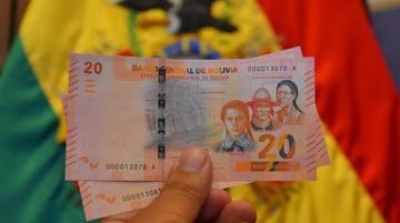 BCB: nuevos billetes de corte de 20 Bolivianos entran en circulación