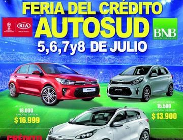 Hoy se abre la oferta de la feria de Crédito Autosud