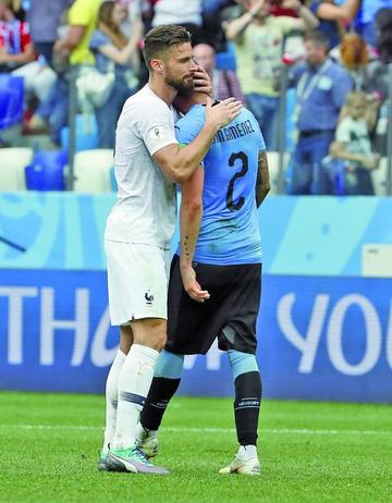 Francia despacha del Mundial a Uruguay