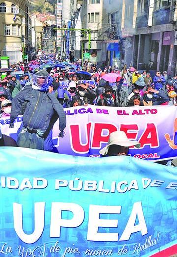 La UPEA advierte radicalizar su protesta por más presupuesto
