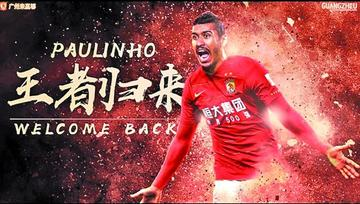 Barcelona cede a Paulinho al Guangzhou chino por un año
