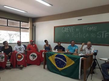 Inicia una huelga de hambre por libertad de Lula en Brasil