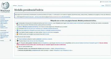 Desaparece de la página de Wikipedia el artículo sobre el símbolo patrio