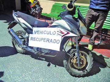 Sustraen una motocicleta para prendarla por Bs 100