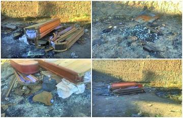 Advierten que restos son cremados de forma artesanal en el cementerio