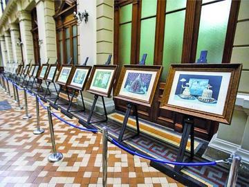 Exhiben las obras de Dalí en Palacio de Tribunales