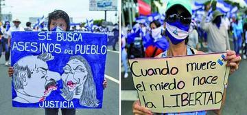 Miles de nicaragüenses exigen la salida del presidente Ortega