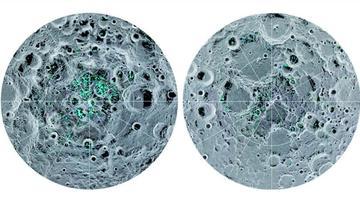 Los expertos confirman la existencia de hielo en la superficie de la Luna
