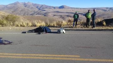 Motociclista argentino fallece en accidente en la vía Potosí- Oruro
