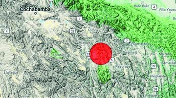 Sismo de 3.6 grados en Aiquile causa temor entre los pobladores