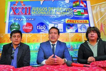 Potosí albergará los XXII Juegos Deportivos Nacionales de Ingenieros