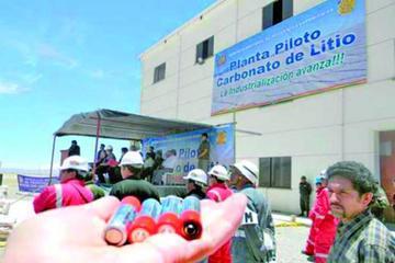 Consulta pública para planta de litio tiene resultado favorable