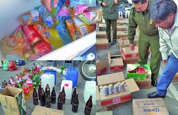 Comercializaban la cerveza en  las cajas de Maltita y de Pilfrut
